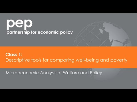 Class 1: Descriptive Tools for Comparing Well-being and Poverty