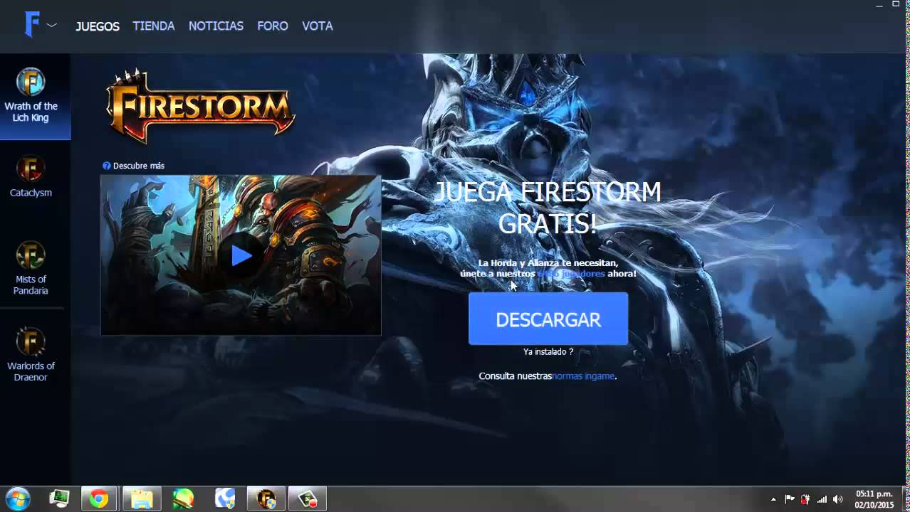 FIRESTORM WOW LAUNCHER TÉLÉCHARGER