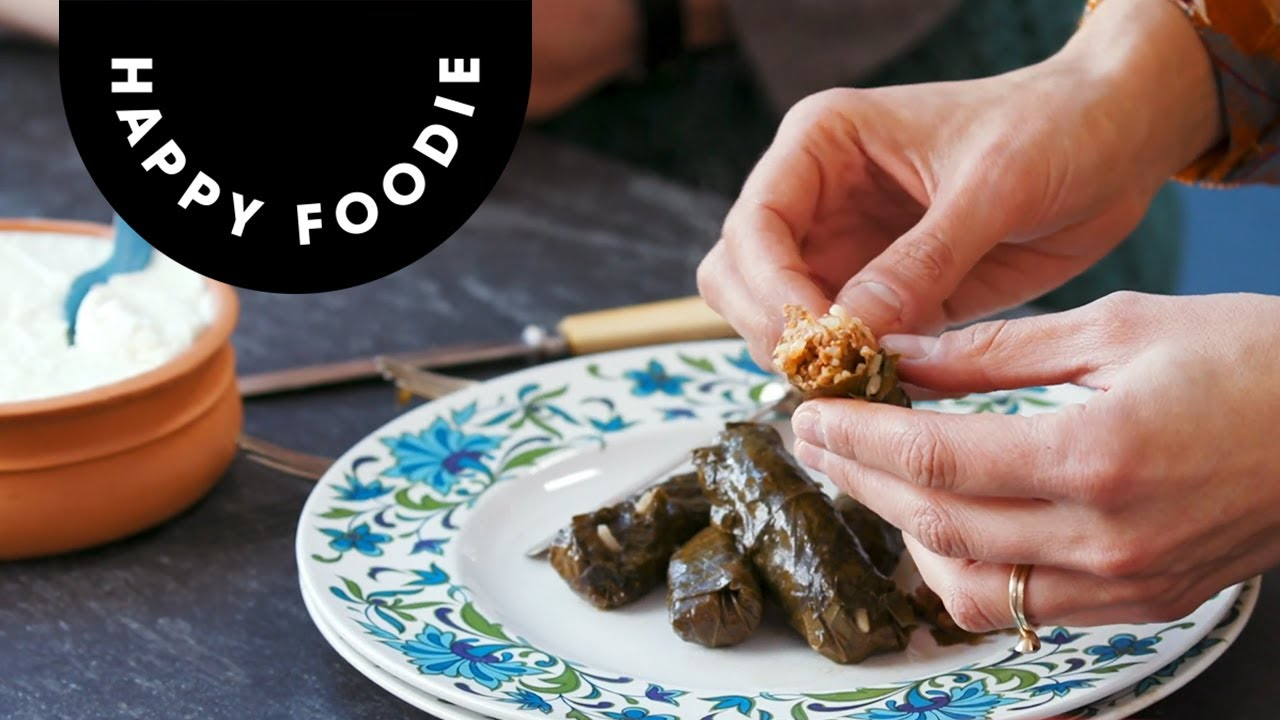 How To Make Stuffed Vine Leaves with Georgie Hayden | Authentic Cypriot  Recipe