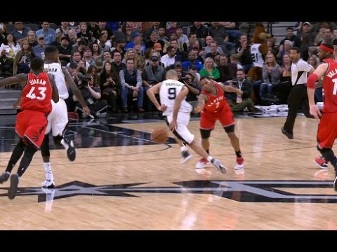 Tony Parker Behind-the-Back Dribble, No-Look Assist to Kawhi Leonard | 01.03.17
