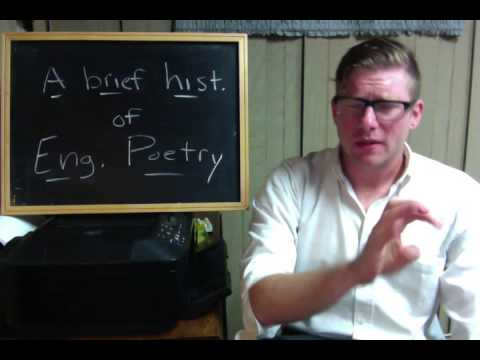 ENGL 205 - Video #5: A Brief History of English Poetry (Part One)