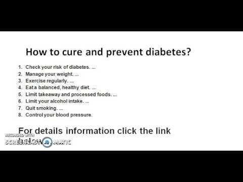 How To Cure Diabetes Without Medicine And Insulin Youtube
