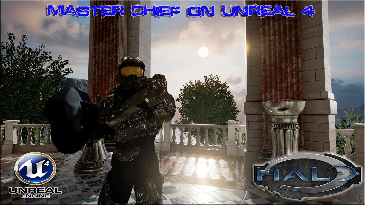 Halo - Master Chief In Unreal Engine 4 Tech Demo ▶️ 1440p (2560x1440) ◀️