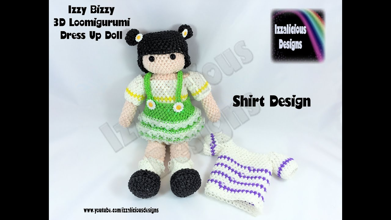 T shirt design youtube - Rainbow Loom Loomigurumi Izzy Bizzy Doll T Shirt Crochet Hook Only Youtube