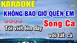 Không Bao Giờ Quên Em Karaoke Song Ca Nhạc Sống | Trọng Hiếu