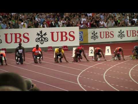 Usain Bolt 100m Weltklasse Zürich 2009 (news.ch)