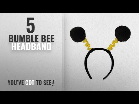 Top 10 Bumble Bee Headband [2018]: Soft-Touch Pom-Pom Boppers (black & yellow) Party Accessory (1