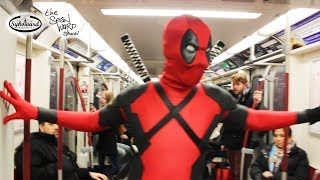 Deadpool Rides the Subway...