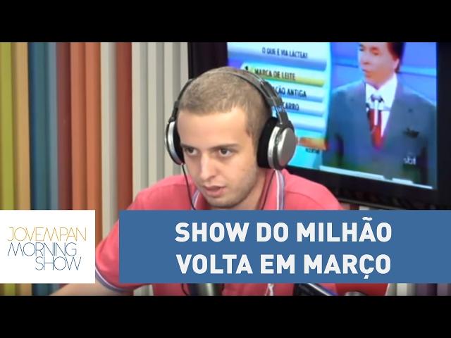 Show do Milhão volta em março; relembre grandes momentos do programa | Morning Show