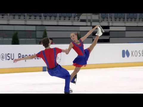 2015 ISU Junior Grand Prix Bratislava Free Dance Maria GOLUBTSOVA / Kirill BELOBROV