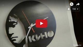 как сделать часы из старой пластинки