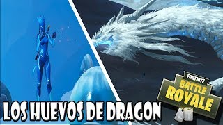 PODEMOS VER Y ESCUCHAR LOS HUEVOS DE DRAGON DE PICO POLAR FORTNITE BATTLE ROYALE NEVADA