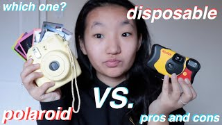 disposable vs. polaroid camera(PROS AND CONS+WHICH ONE TO BUY)