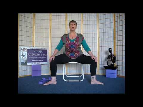 Innerji Chair Yoga   Lower body and legs