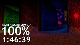 100% in 1:46:39 [World Record] | Earthworm Jim 3D