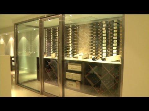 Inside luxury wine cellars