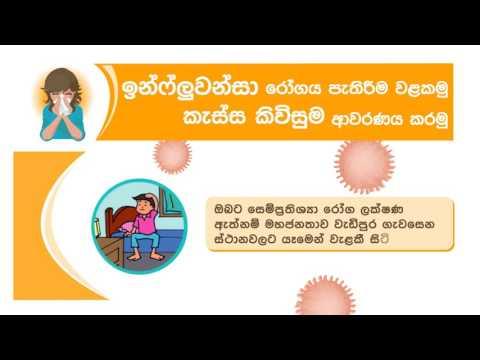 Health Education Bureau,Srilanka, ඉන්ෆ්ල්වෙන්සා රෝගය