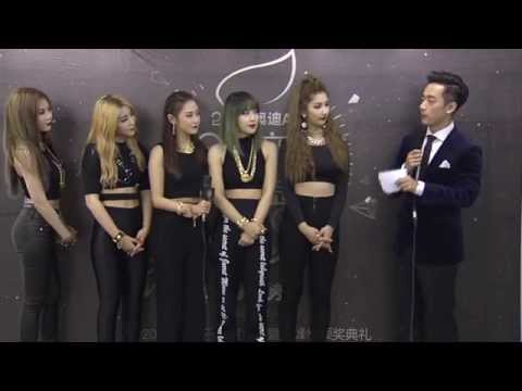 150325 4Minute - Backstage Interview @2015 QQ Music Awards