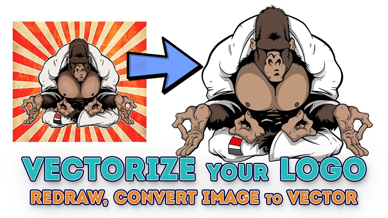 How to vectorize your logo, redraw, convert image to vector   Fiverr GIG