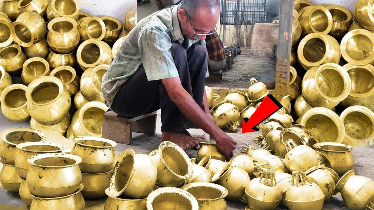 Brass Vessels Making | Brass Utensils Making | Brass Items Making Skills | Metal Casting Process