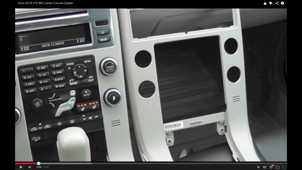 Volvo XC70 V70 S80 Center Console Update  YouTube