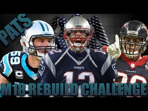 Ea's Broken Trading Challenge! Rebuilding the New England Patriots!  Madden 18 Franchise!