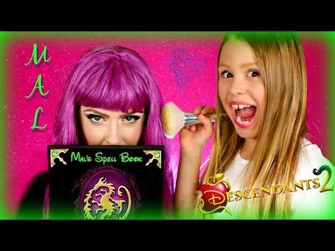 Disney Descendants 2 Mal Makeup Makeover on My MOM!