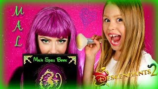 Disney Descendants 2 Mal Makeup Makeover on My MOM!
