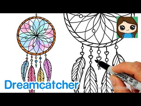 how-to-draw-a-dream-catcher-easy
