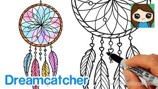 How to Draw a Dream Catcher Easy