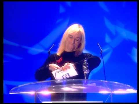 Paul Weller wins British Male presented by Iggy Pop | BRIT Awards 1996