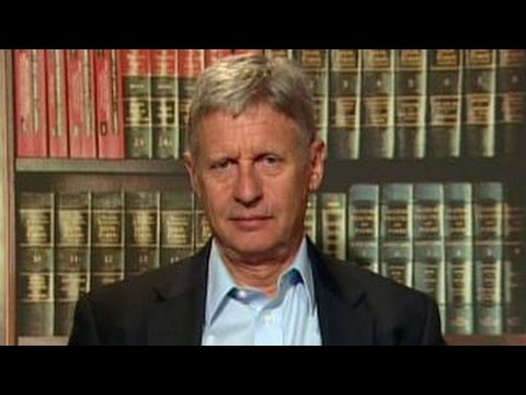 Gary Johnson talks immigration stance, Clinton Foundation