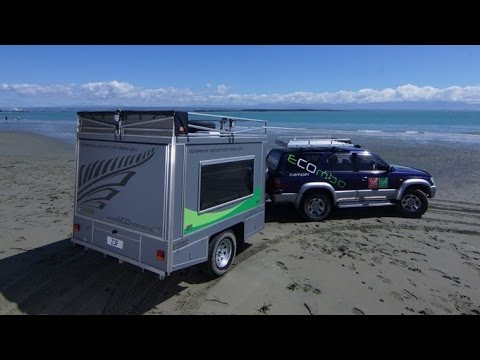 The Ecombo trailer with solar-powered System
