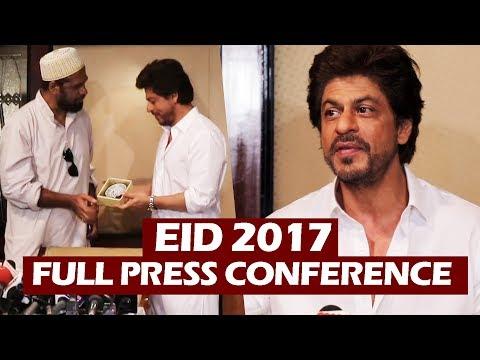 Shahrukh Khan's Press Conference | Full HD Video | Eid Celebration 2017 | Taj Lands End