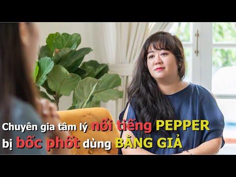 Chuyên gia tâm lý nổi tiếng Pepper bị bốc phốt dùng bằng giả   Vén màn showbiz