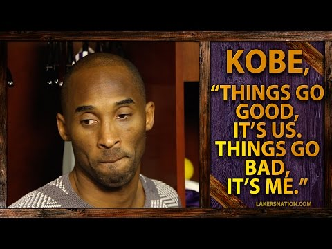 Lakers Post Game Report: Kobe, Things Go Good, Its Us. Things Go Bad, Its Me