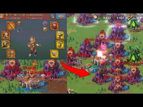 Lords Mobile KvK Trap Vs D~J | My Trap Burns?! Rank 1 Player Hits Me