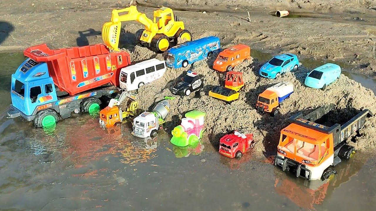 school bus, mobil balap, kereta api mobil polisi, bego mobil molen, tayo, motor balap, truk gandeng