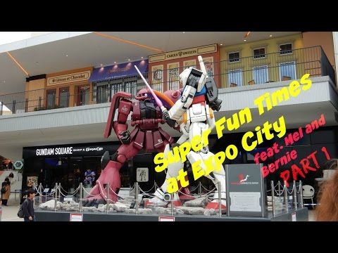 Fun times at Expo City (feat. Mel and Bernie) Part 1 - Gundam Cafe & Pokemon Gym