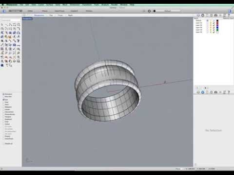 Rhino 3d sweep a design on a band ring