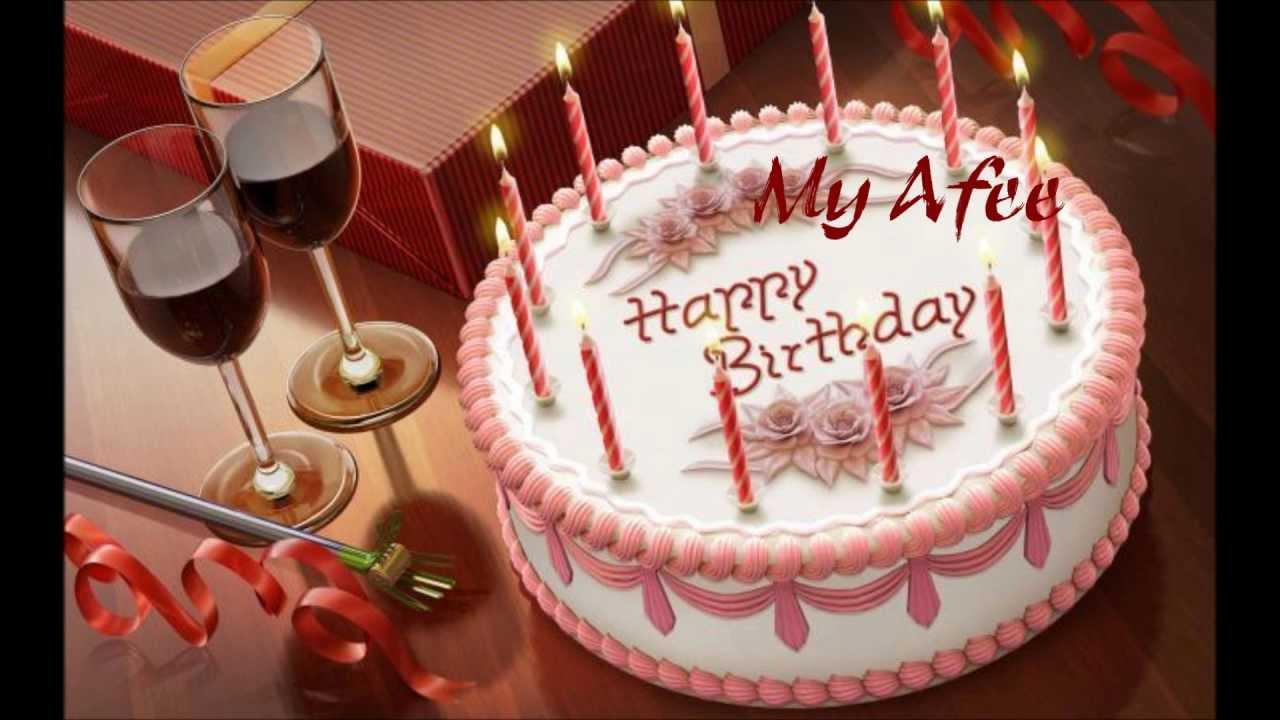 Birthday Cake With Name Zoya ~ Happy birthday afreen youtube