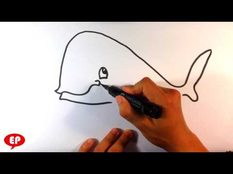 How To Draw A Whale (cute) - Easy Pictures To Draw