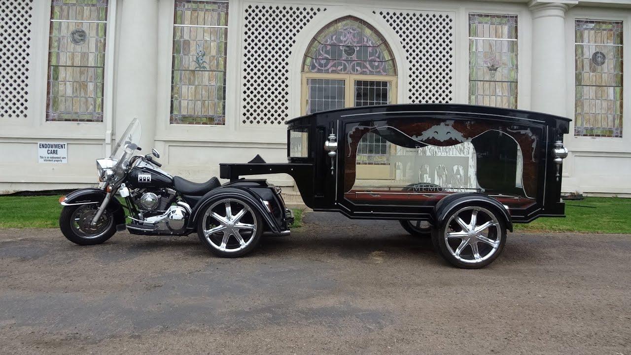 Harley Davidson Hearse Funeral Chopper Video 5th Wheel Biker Funeral