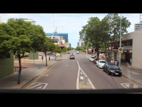 Fahrt durch Darwin City, Northern Territory, Australien