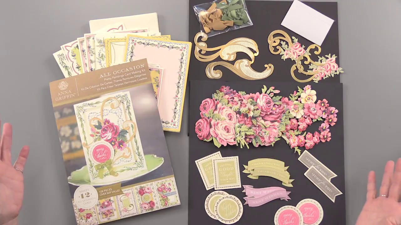 Anna Griffin Pretty Paintings Card Making Kit Youtube
