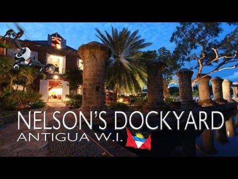NELSON'S DOCKYARD Marina ~ Antigua West Indies ~ Best UAV Drone Caribbean Aerials ~ WeBeYachting.com