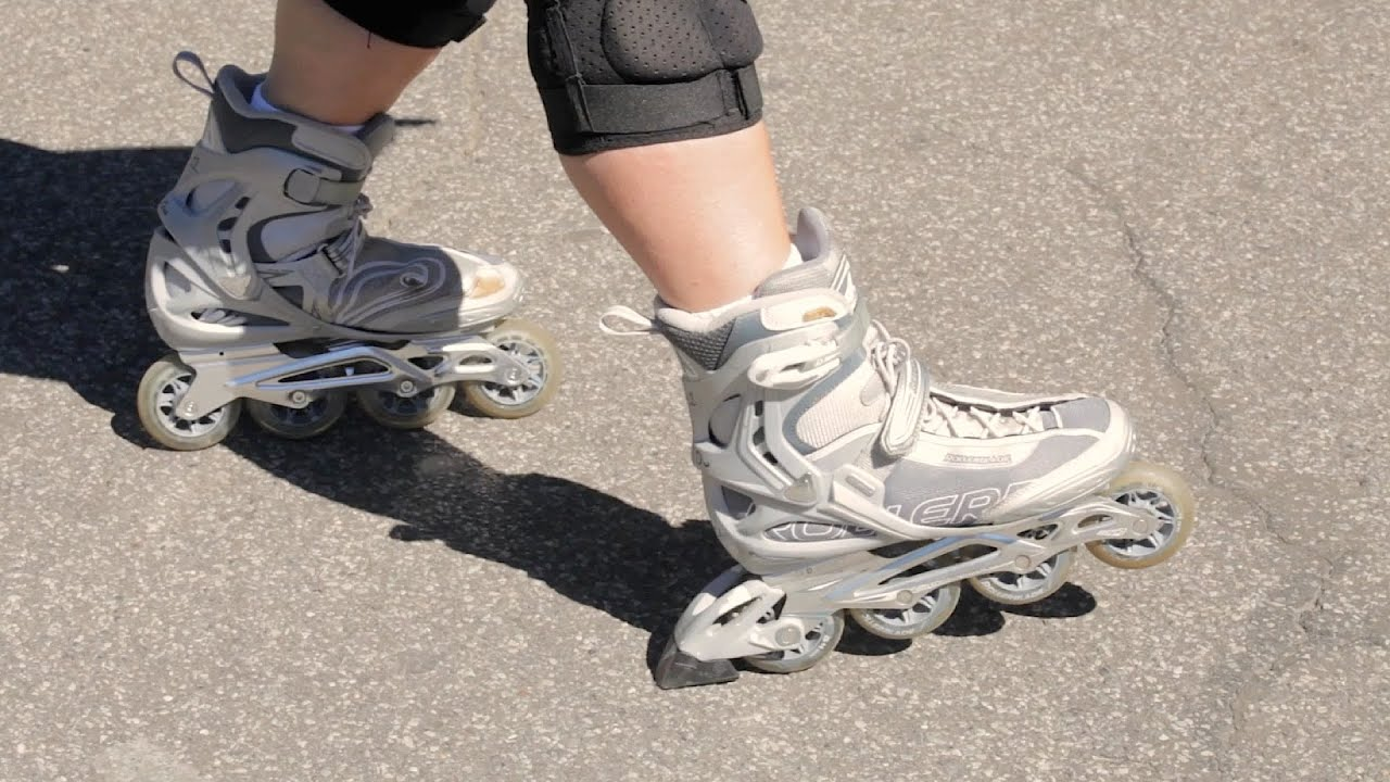 3 Ways to Stop on Rollerblades  a7ee9bec2a