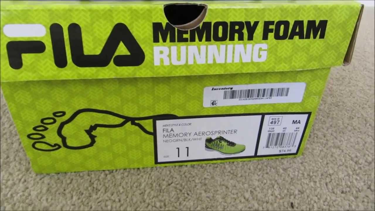 Review of the NEW FILA Memory Foam Aerosprinter Running Shoe - YouTube 009ede995d90
