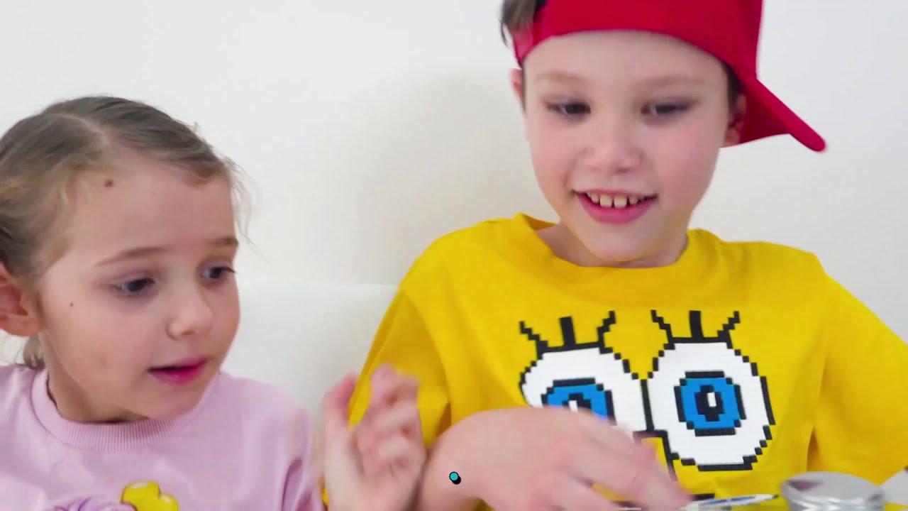 Мороженое или настоящее челлендж от Макс и Катя