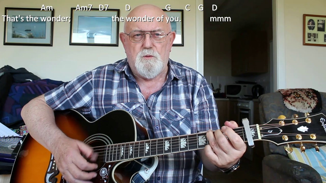 Guitar: The Wonder of You (Including lyrics and chords)